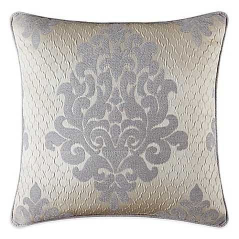 Queen Street Decorative Pillows : J. Queen New York Dante Square Throw Pillow in Cream - Bed Bath & Beyond