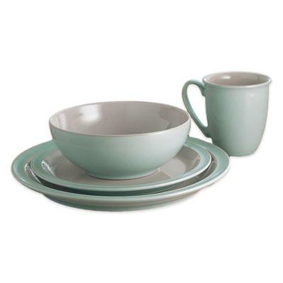 denby duets 16piece dinnerware set in taupeblue