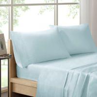 Sleep Philosophy Liquid Cotton King Sheet Set in Seafoam