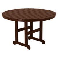 POLYWOOD® La Casa 48-Inch Round Dining Table in Mahogany