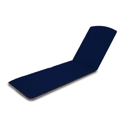 POLYWOOD® Outdoor Chaise Lounge Cushion in Navy  sc 1 st  Bed Bath u0026 Beyond : chaise patio cushions - Sectionals, Sofas & Couches