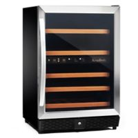 Kingsbottle 50-Bottle Dual-Zone Wine Cooler in Stainless Steel