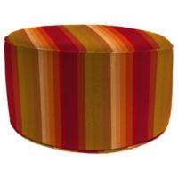 Outdoor Round Pouf Ottoman in Sunbrella® Astoria Sunset
