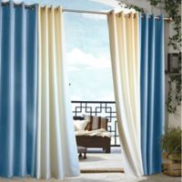 Commonwealth Home Fashions 84-Inch Gazebo Outdoor Curtain in Blue