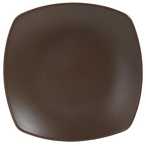 gibson paradiso square dinner plate in brown bed bath
