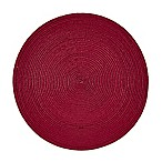 Indoor/Outdoor 15-Inch Round Placemat in Punch Red