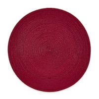 Indoor/Outdoor 15-Inch Round Placemat in Dark Red