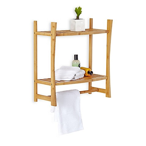 Bamboo Wall Mount Shelf Bed Bath Amp Beyond