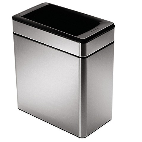 Simplehuman 174 10 Liter Profile Open Stainless Steel Trash