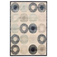 Kathy Ireland® Home Be Air Circles 7-Foot 9-Inch x 9-Foot 9-Inch Rug in Ivory