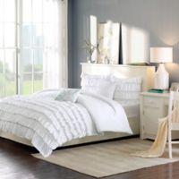Intelligent Design Waterfall Reversible 5-Piece Full/Queen Comforter Set in White