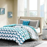 Intelligent Design Finn Full/Queen Comforter Set in Blue