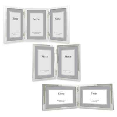 Siena Silver-Plated Narrow Border Plain Picture Frame