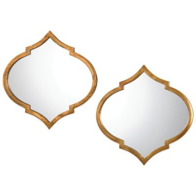 uttermost jebel antique wall mirrors in gold set of 2