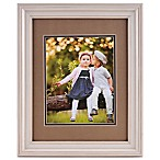PhotoGuard 8-Inch x 10-Inch Portrait Frame with Double Mat in Cream