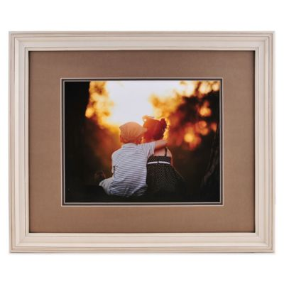 photoguard 11 inch x 14 inch portrait frame with double mat in cream