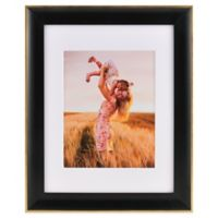 PhotoGuard 8-Inch x 10-Inch Wood Wall Frame in Satin Black