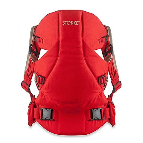 stokke mycarrier 3 in 1 multi use baby carrier in red buybuy baby. Black Bedroom Furniture Sets. Home Design Ideas