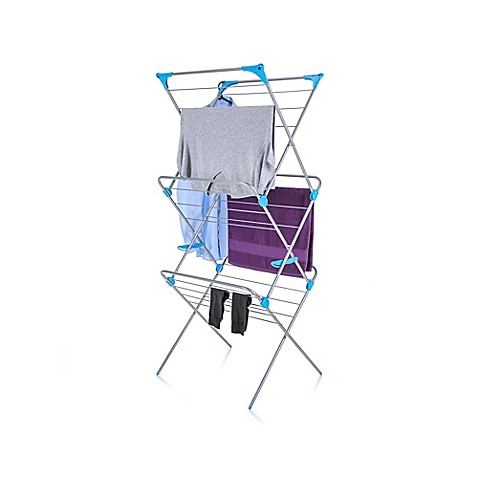 Minky Homecare 3 Tier Indoor Drying Rack Bed Bath Amp Beyond