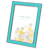 Swing Design™ Lura 5-Inch x 7-Inch Picture Frame in Turquoise/Silver