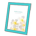 Swing Design™ Lura 8-Inch x 10-Inch Picture Frame in Turquoise/Silver