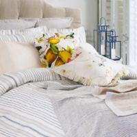 Villa Di Borghese Portofino Jacquard Luxury Italian-Made Standard Pillow Sham in Blue