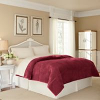 Vellux® Plush Lux Twin Blanket in Burgundy