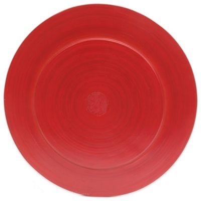 Gibson Overseas Bamboo Charger Plate in Red  sc 1 st  Bed Bath u0026 Beyond & Buy Plates Chargers from Bed Bath u0026 Beyond