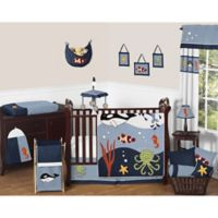 Sweet Jojo Designs Ocean Blue 11-Piece Crib Bedding Set