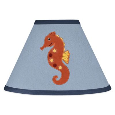 Buy lamp shades with harp from bed bath beyond sweet jojo designs ocean blue lamp shade aloadofball Image collections