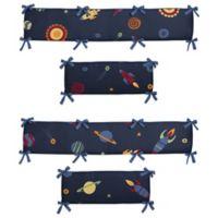 Sweet Jojo Designs Space Galaxy 4-Piece Crib Bumper Set