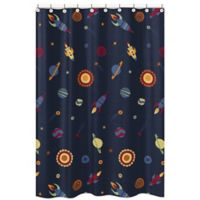 Sweet Jojo Designs Space Galaxy Shower Curtain