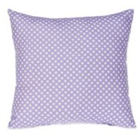 Glenna Jean Fiona Micro Dot Square Throw Pillow in White/Purple