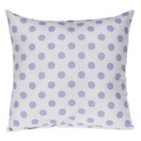 Glenna Jean Fiona Large Dot Square Throw Pillow in White/Purple
