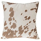 Glenna Jean Happy Trails Cow Print Throw Pillow