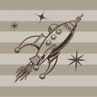 Glenna Jean Liam Rocket and Stars Wall Decals
