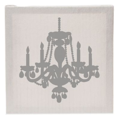 Glenna Jean Lil Princess Chandelier Fabric Covered Canvas Wall Art In  Grey/White