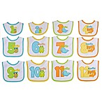 Neat Solutions® 12-Piece Monthly Milestone Bib Set in Neutral