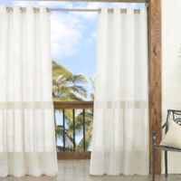 Parasol Summerland Key 84-Inch Sheer Indoor/Outdoor Window Curtain Panel in Ivory
