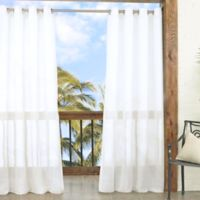 Parasol Summerland Key 84-Inch Sheer Indoor/Outdoor Window Curtain Panel in White