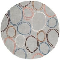Surya Alzey 8-Foot Round Area Rug in Ivory