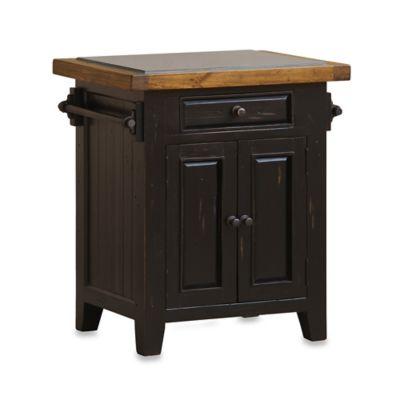 Hillsdale Tuscan Retreat® Granite Top Kitchen Island In Black/Antique Pine