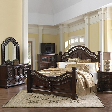 pulaski san marino 5 piece queen bedroom set in dark brown bed bath