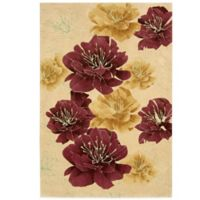 Kathy Ireland® Home Palisades Joshua Blossom 3-Foot 9-Inch x 5-Foot 9-Inch Area Rug in Sand