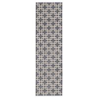 Kathy Ireland® Home Hollywood Shimmer Times Square 2-Foot 3-Inch x 8-Foot Runner in Steel