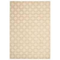 Kathy Ireland® Home Hollywood Shimmer Times Square 3-Foot 9-Inch x 5-Foot 9-Inch Rug in Bisque