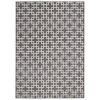 Kathy Ireland® Home Hollywood Shimmer Times Square 3-Foot 9-Inch x 5-Foot 9-Inch Rug in Steel