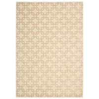 Kathy Ireland® Home Hollywood Shimmer Times Square 9-Foot 3-Inch x 12-Foot 9-Inch Rug in Bisque