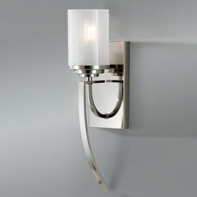 Bathroom Wall Sconces Polished Nickel : Buy Feiss Finley 1-Light Wall Sconce in Polished Nickel from Bed Bath & Beyond