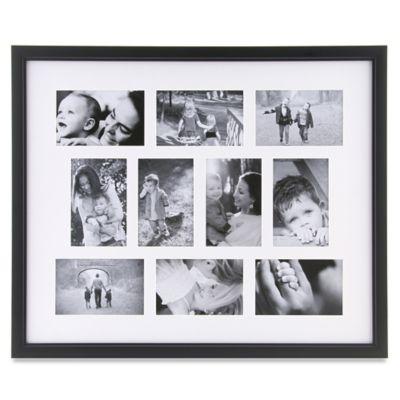 10 photo collage frame in black